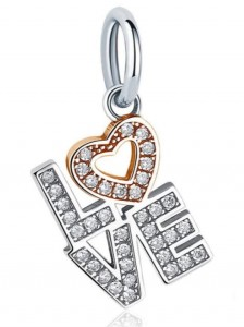 "Charms do Pandora ""Zawieszka Love"""