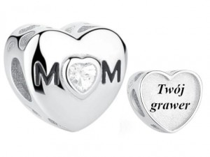 Charms do Pandora z Grawerem Mom