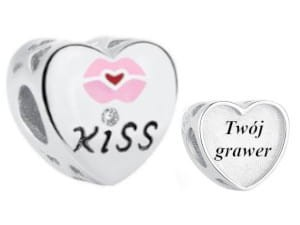 Charms do Pandora z Grawerem Kiss
