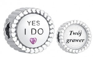 Charms do Pandora z Grawerem Yes I do!