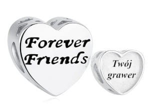 Charms do Pandora z Grawerem Forever Friends